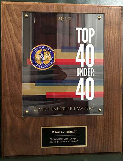 Rob Collins Top 40 Lawyers Under 40