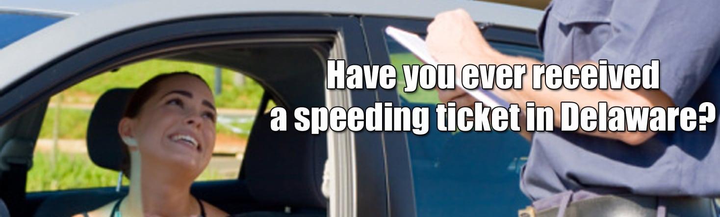 speeding ticket in delaware
